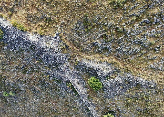 From the air, the walls are visible.