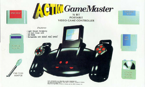 The Action GameMaster was vaporware that never saw the light of day.