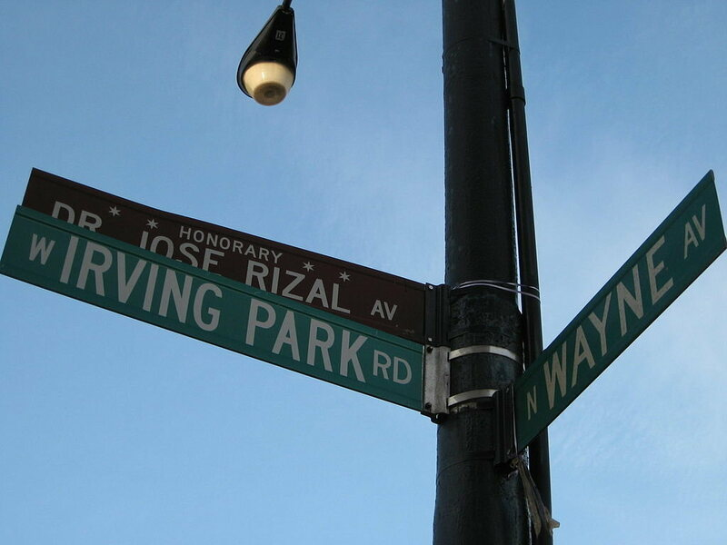 A honorary Chicago street sign.