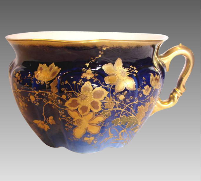 French Limoges chamber pot from the late 19th century.