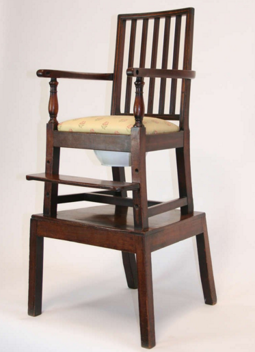 18th century convertible high children's chair.