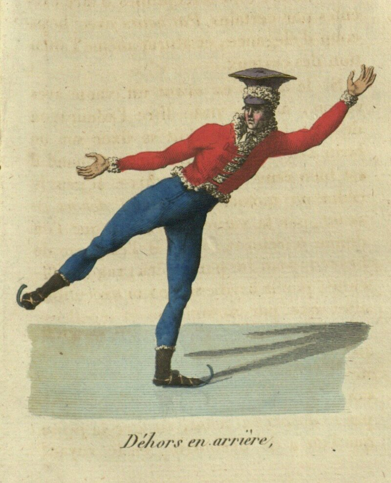The skaters of the ice skating club, Gilets Rouge, wore a unique uniform.