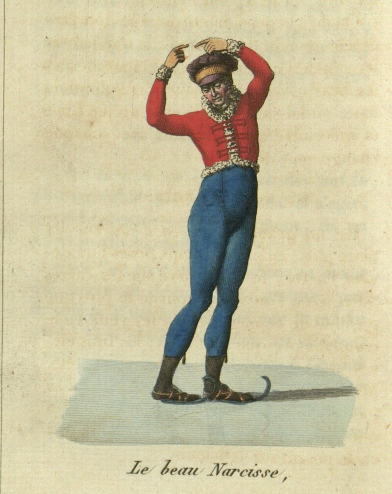 The French style of skating featured curves, which wasn't as common in other countries at the time.