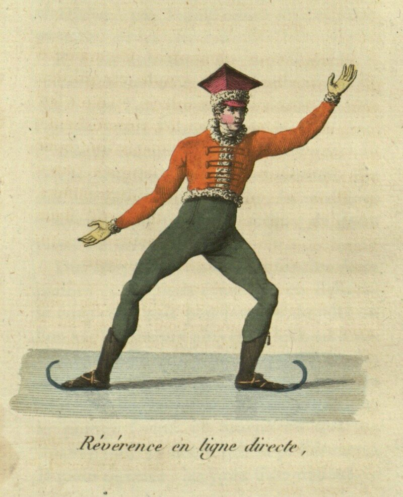 Révérence, or bow. A move similar to the spread-eagle.