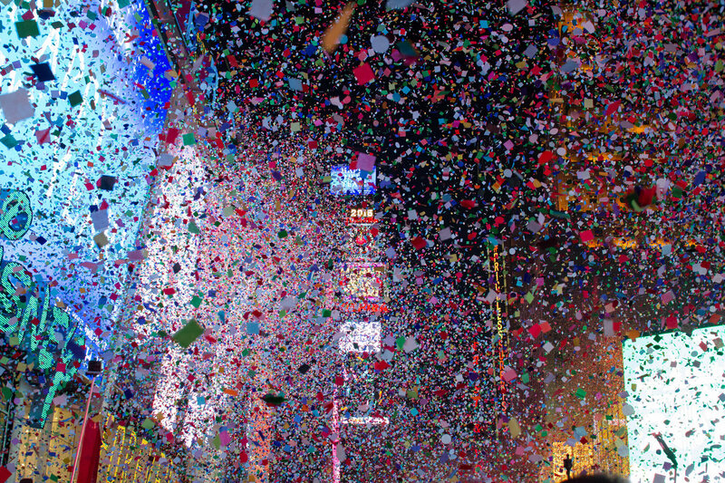 New Year's Eve in Times Square, New York.
