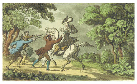 Highwaymen targeted carriages of upper class citizens to steal wigs.