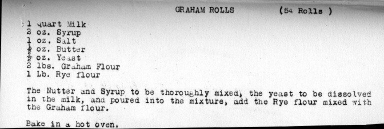 Graham Rolls recipe.