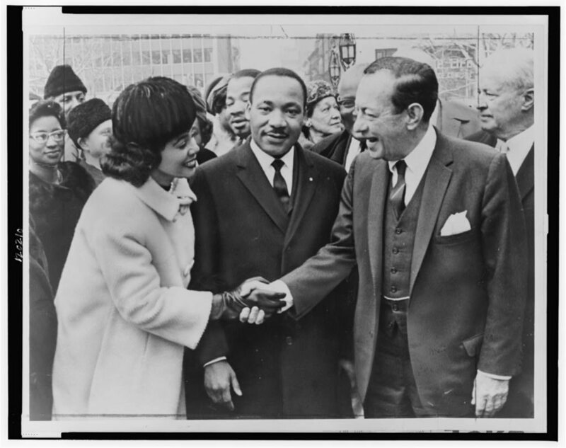 Martin Luther King, Jr., with his wife, in 1964.