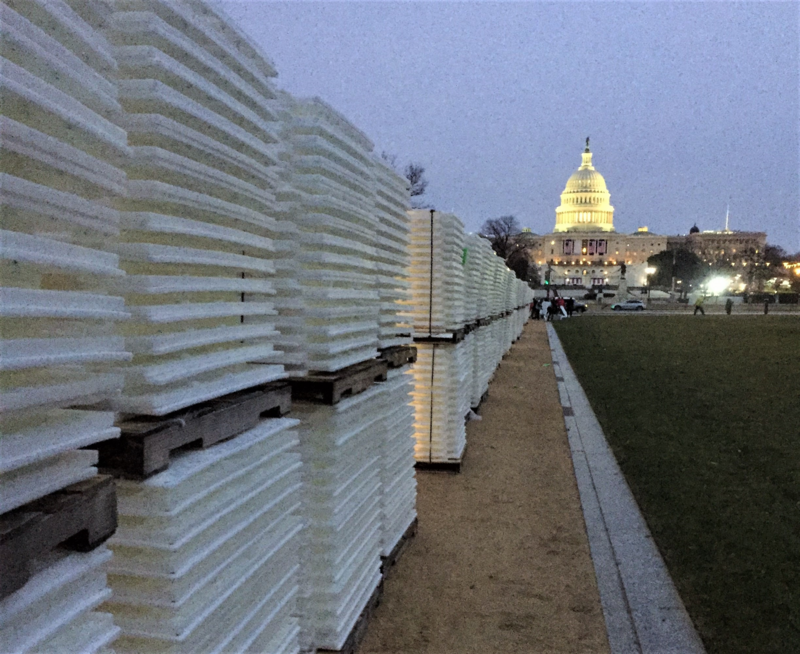 It takes thousands of panels to cover the Mall.