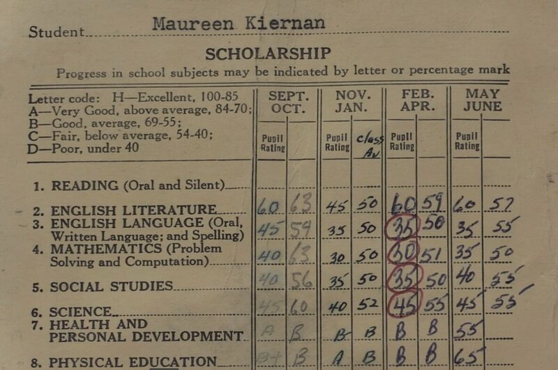 Maureen did not get great grades.
