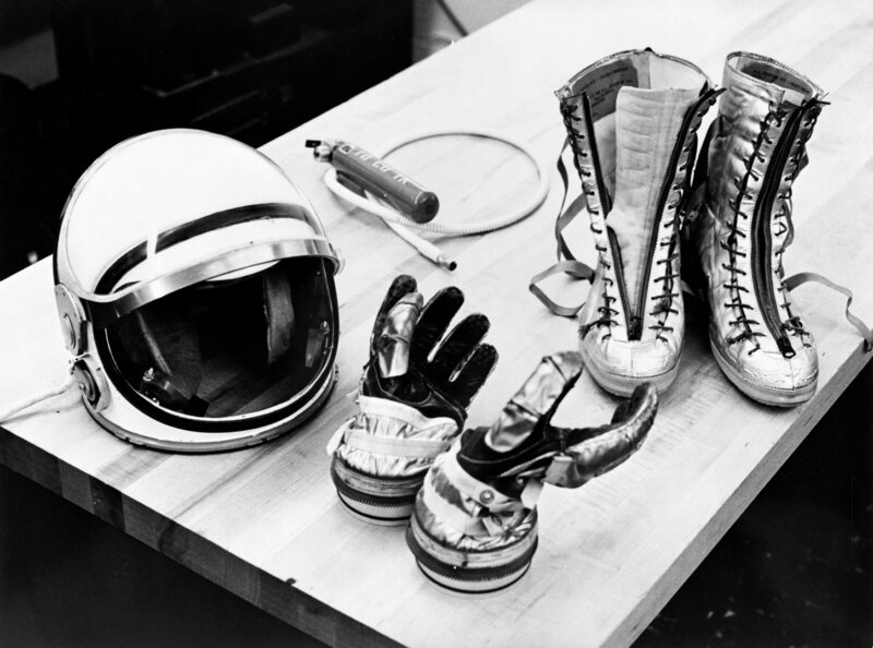 A helmet from the 1961 Mercury spacesuit. The space helmet wouldn't be the same had it not been for Alice King Chatham's contributions.