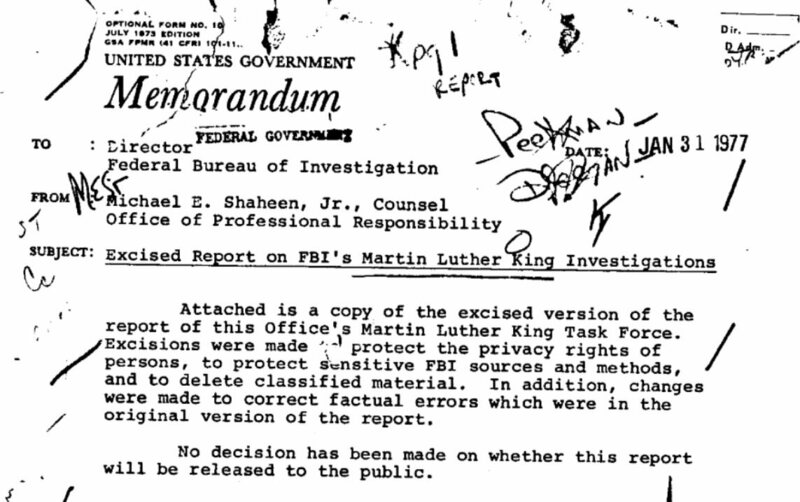 The 1977 Report Detailing FBI Misconduct While Surveilling