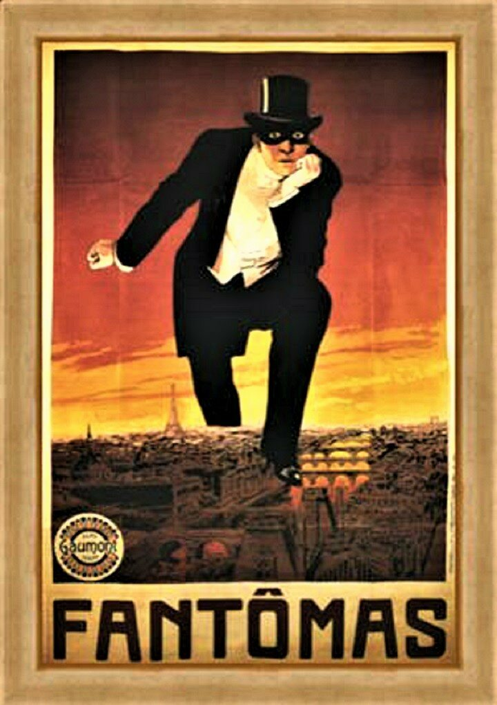 The poster for the first Fantomas film was produced by Gaumont studios.