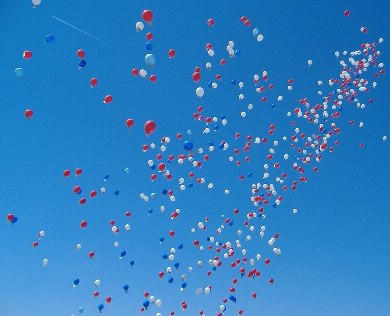 You can no longer release balloons in atlantic city atlas obscura a very patriotic balloon release gumiabroncs Choice Image