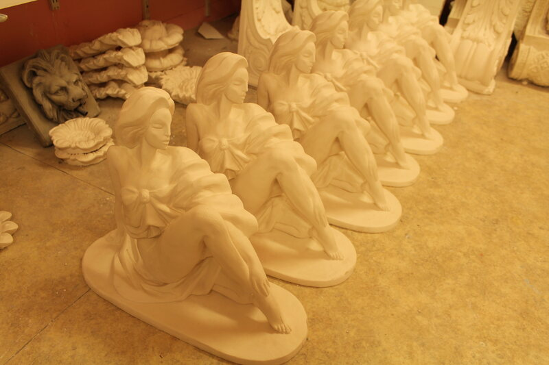 A chorus line of statuettes at Dublin Mouldings.