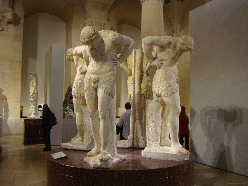 Satyres en atlante, a 2nd century sculpture at the Louvre.