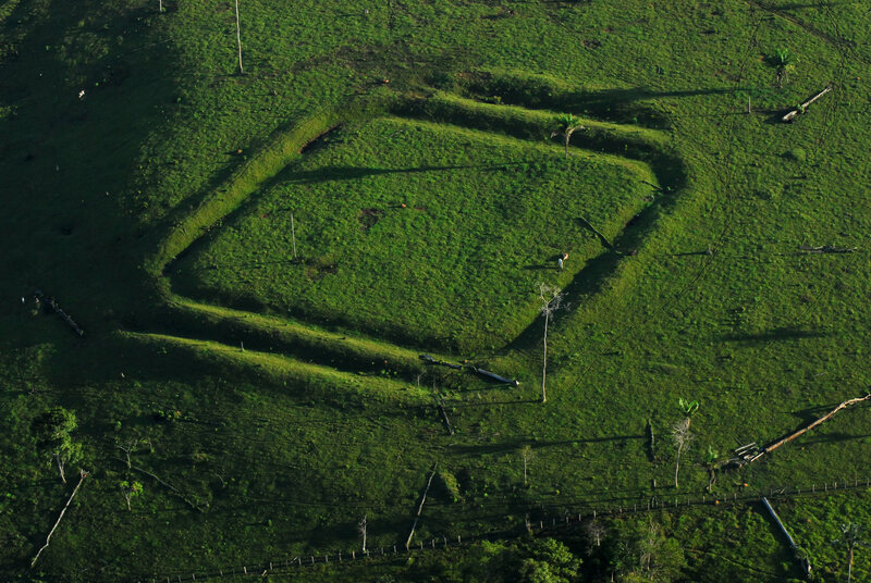 A geoglyph known as Água Fria in the Amazon.