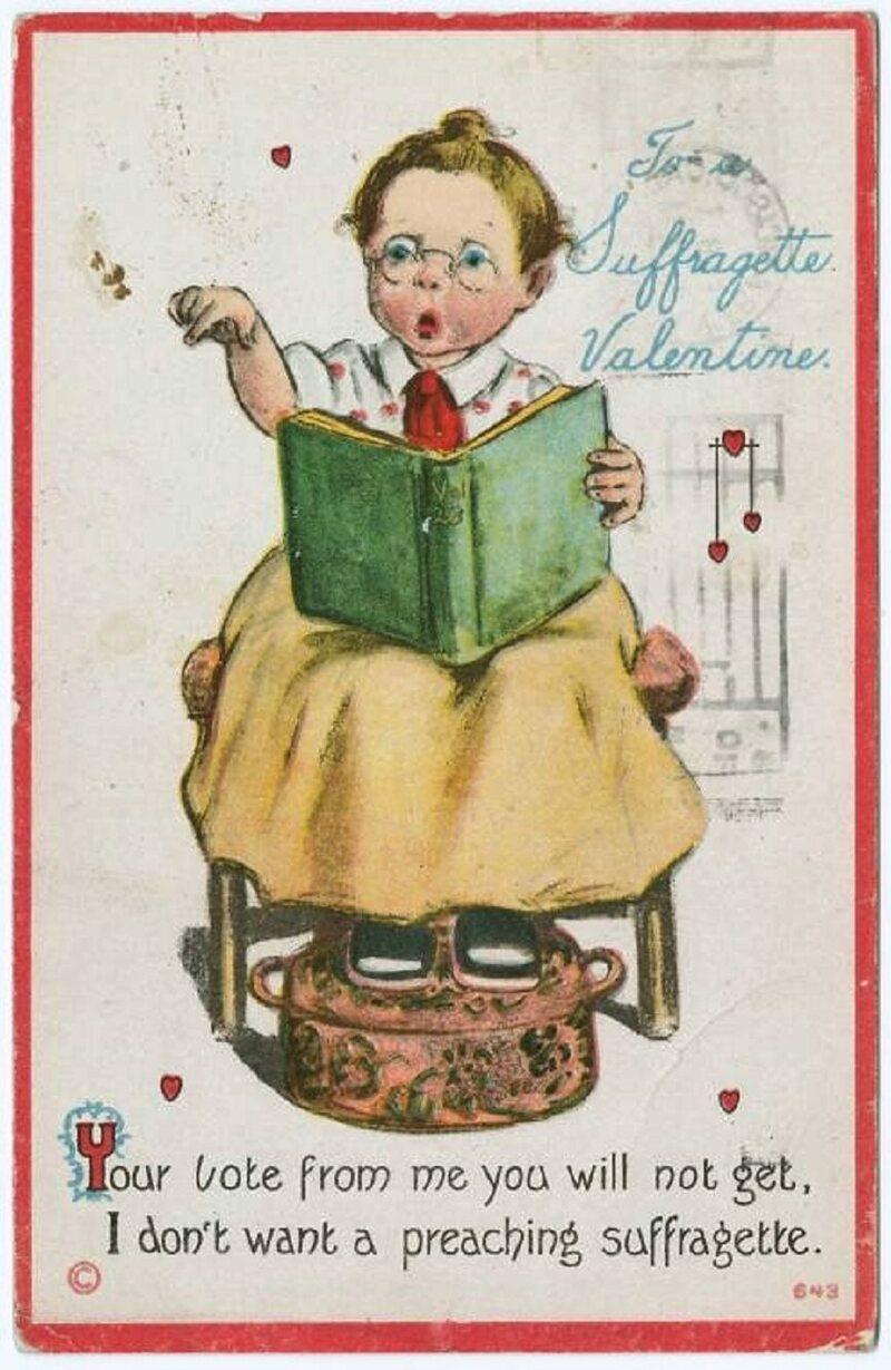 Valentine to a suffragette.