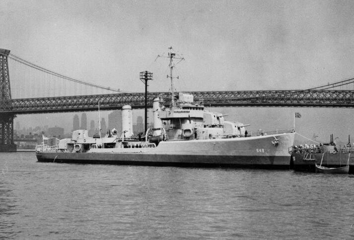 The USS Turner on the East River.