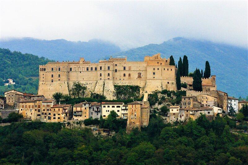 Crosby's castle, Rocca Sinibalda, in Latium, Italy.