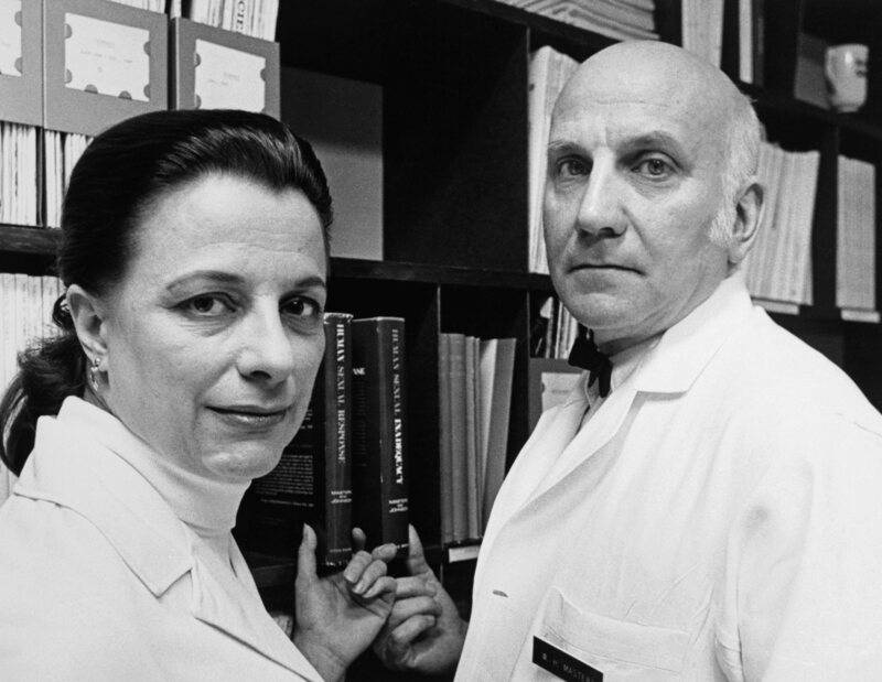"Virginia E. Johnson and William H. Masters, who inspired the Showtime series ""Masters of Sex."""