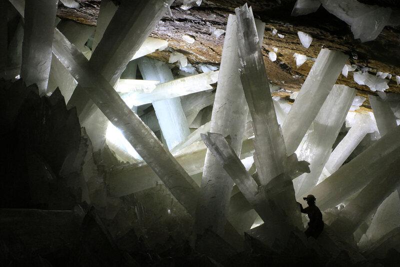 Naica's crystal cave.