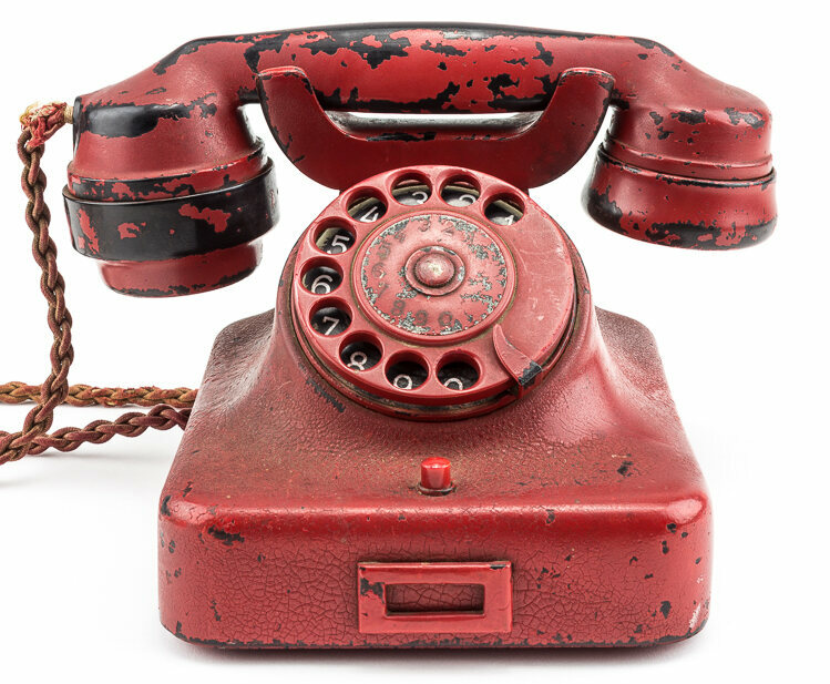 Hitler's very own red phone of death.