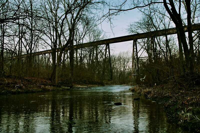 The Pope Lick Trestle Bridge, which the monster is said to live beneath.