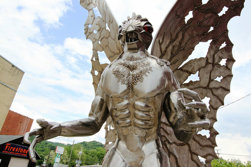 The Mothman Statue in Point Pleasant.