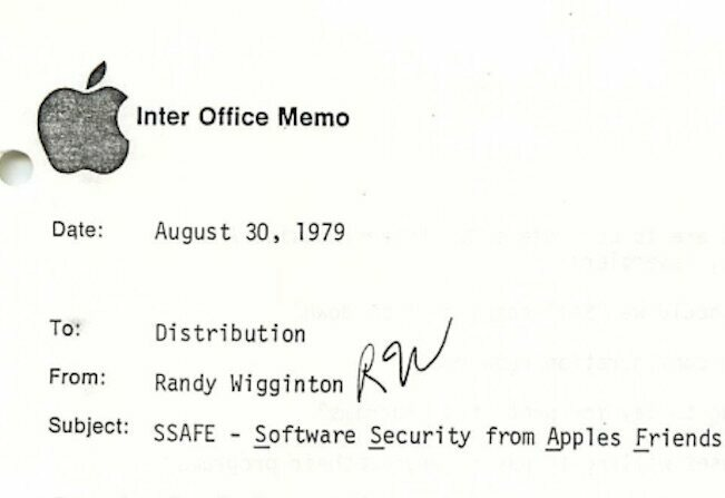 found  internal apple computer memos from 1979  left at a