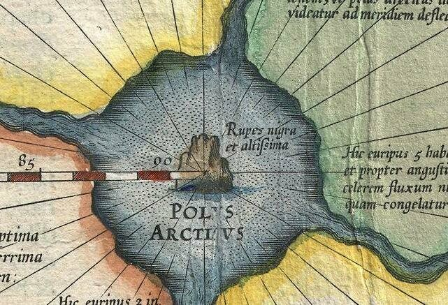 At the time, many assumed the pole itself featured a giant, magnetic mountain.