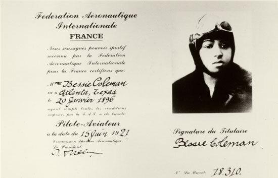 Coleman's pilot license.