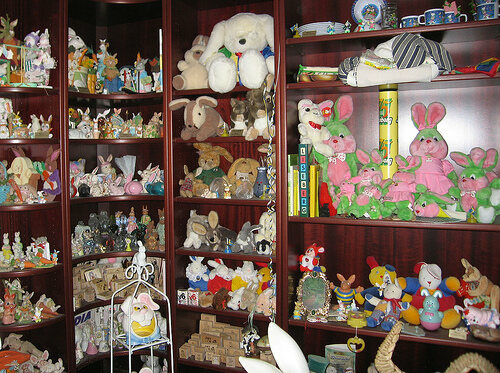 Shelves of bunnies
