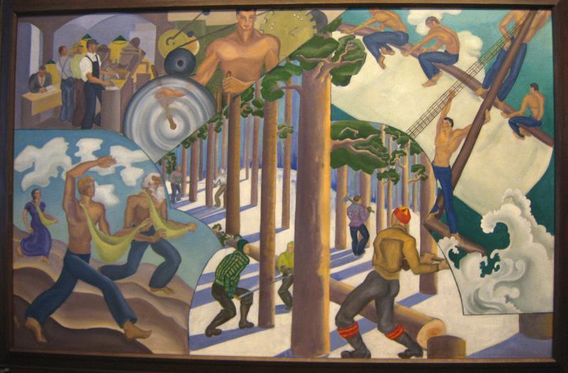 <em>Four Phases of Labor</em> by Virginia Pitman.