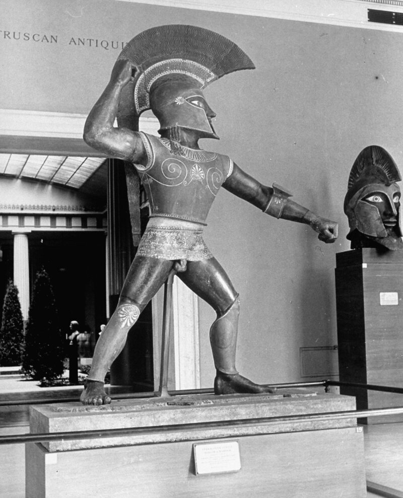 "The eight-foot ""Etruscan"" statue was on display for decades before being proven a fake."