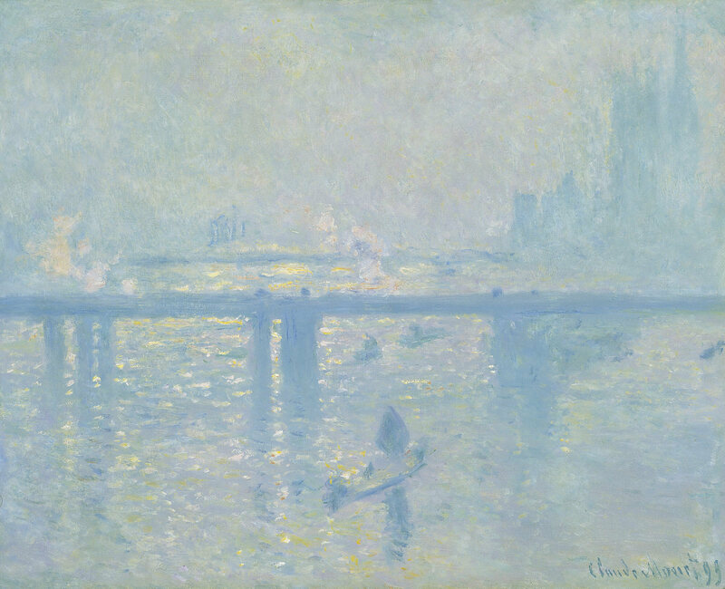 The Hungerford Bridge (then the Charing Cross Bridge) as painted by Claude Monet in 1899.