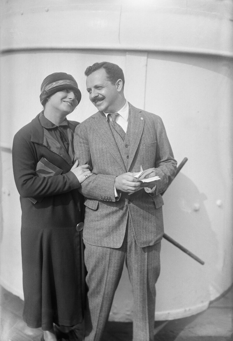Doris E. Fleischman, the first American married woman to travel on a maiden name passport, arriving in New York City in 1923 with her husband Edward L. Bernays.