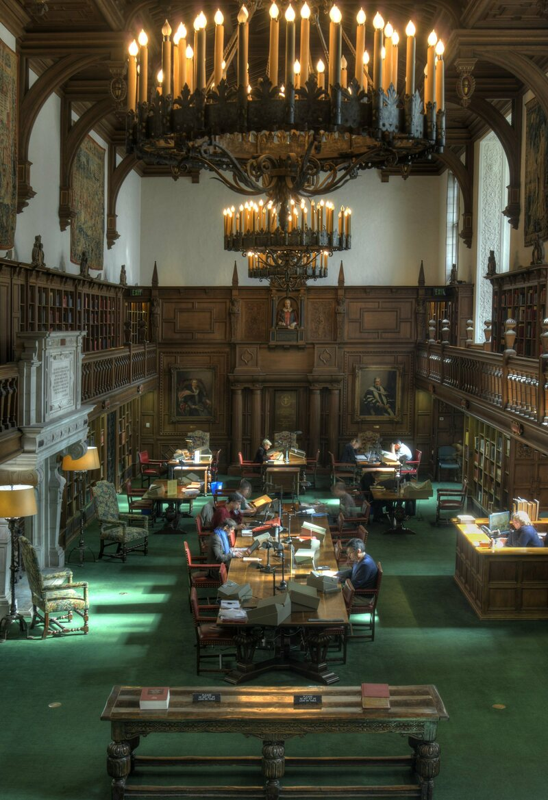 The Folger reading room.