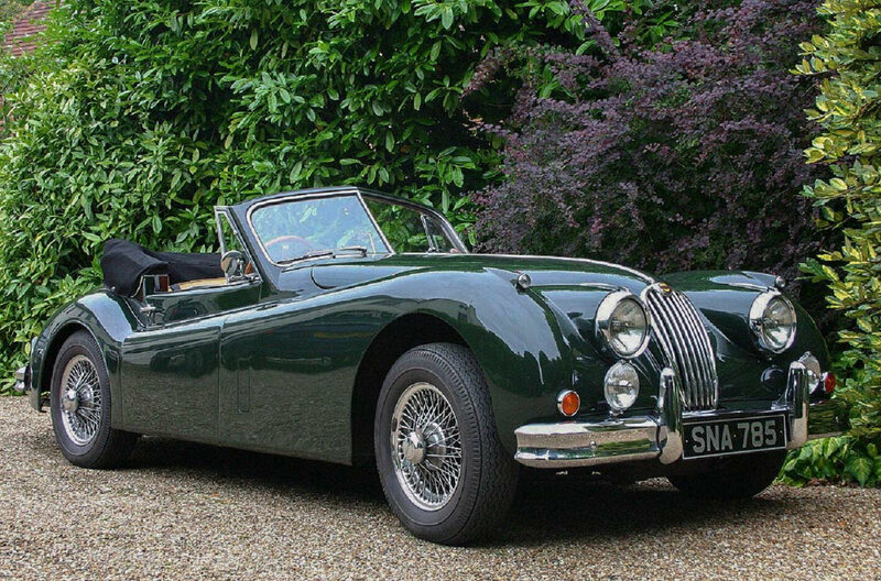 Jaguar has stuck with the alpha-numeric names, as with this classic XK140 convertible.
