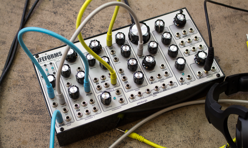 A Pittsburgh Modular Lifeforms SV-1 Blackbox, one of the Carnegie Library's most popular new circulating items.