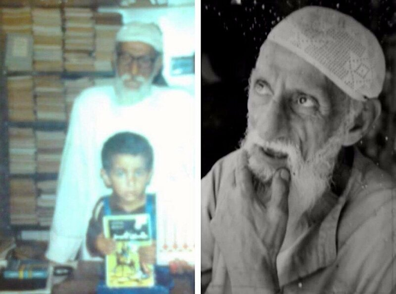 Hamzeh as a boy with his father Mamduh (left) and, right, Mamduh.