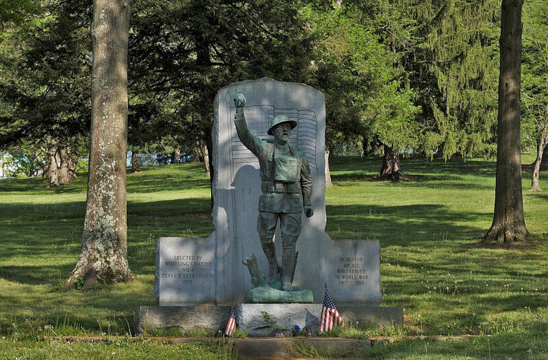 <em>Spirit of the American Doughboy</em> at Wheeling Park in Wheeling, West Virginia.