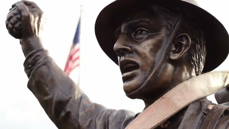Viquesney's <em>Spirit of the American Doughboy</em> in Morehead, Kentucky, dedicated in 1929.