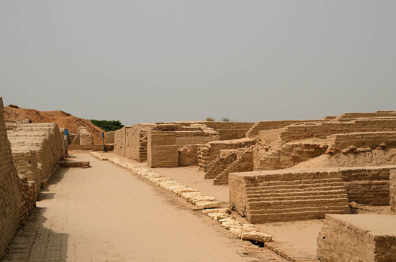 The washrooms and latrines in Mohenjo-Daro were built on the street side of houses.