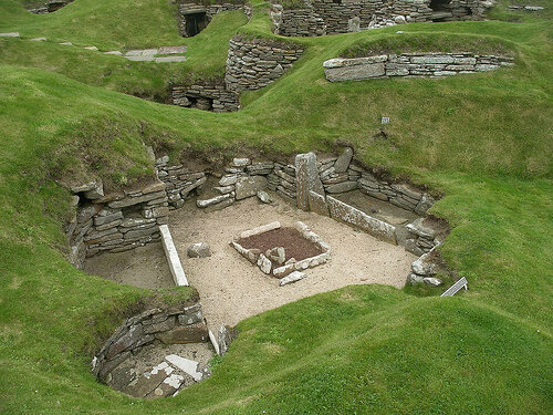 The Neolithic village of Skara Brae designed individual lavatories for each of its huts.