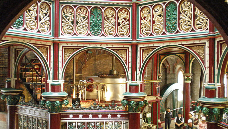 "The Crossness Pumping Station in London was so intricately decorated that it was nicknamed ""The Cathedral on the Marsh."""