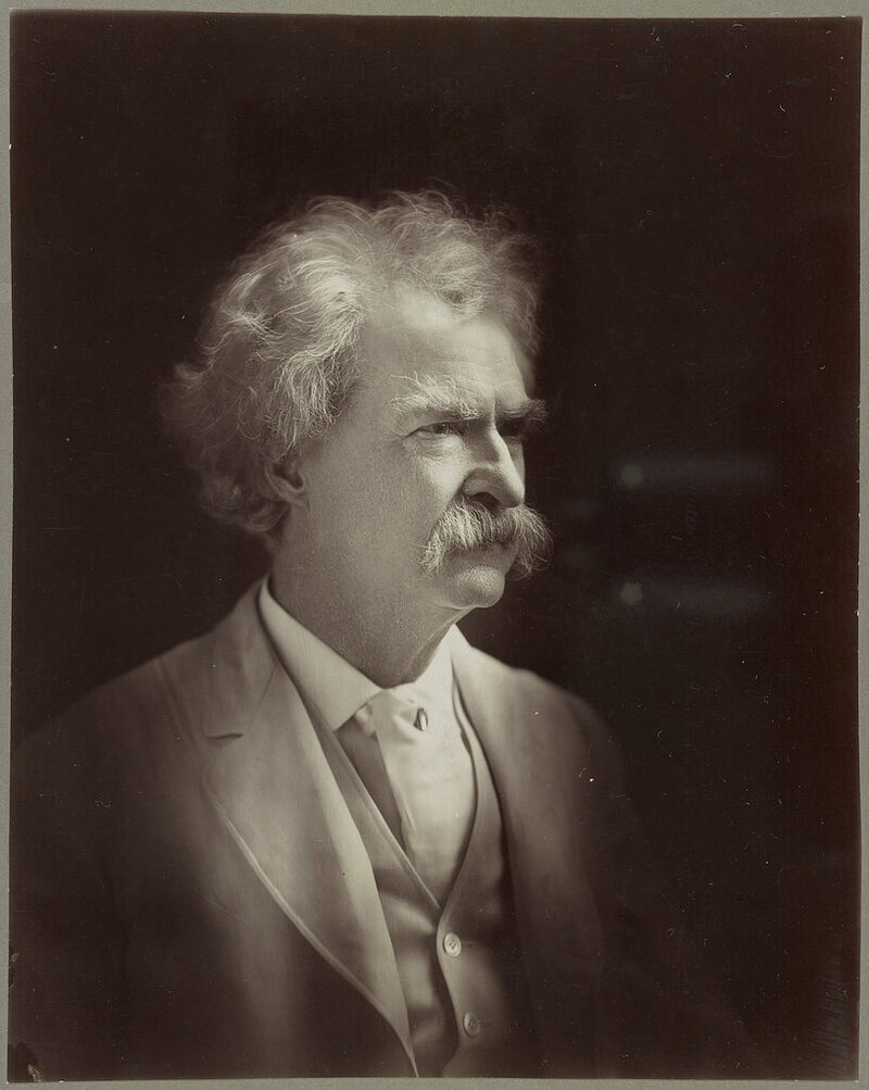 Mark Twain's earliest work was in the form of jests.