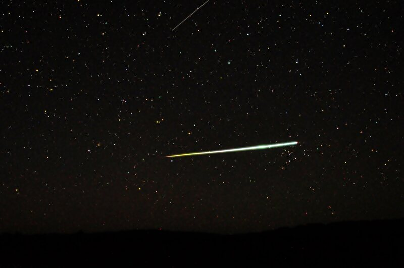 A meteor photographed over South Australia.