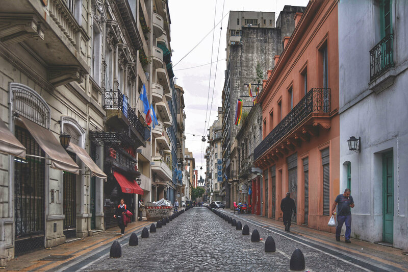 A street in Buenos Aires. There is also a supposed historic curse on the governor of this city.