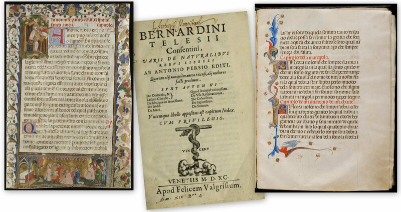 Pages from the manuscripts.